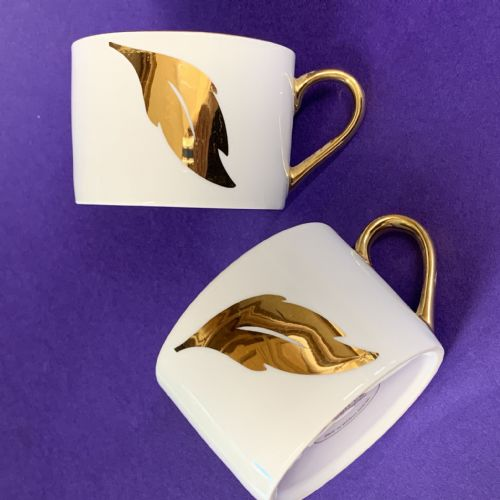 Boots | Gold Lustre| Coffee Tea Cup x 2